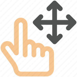 arrow, arrows, bottom, creative, direction, down, drag, finger, finger-drag-four-sides, fingers, four, gesture, grid, hand, interaction, left, line, move, right, shape, sides, slide, swipe, top, touch, touch-gestures, up, work icon icon
