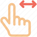 arrow, arrows, creative, drag, finger, finger-drag-two-sides, fingers, gesture, grid, hand, interaction, left, line, move, right, shape, sides, slide, swipe, touch, touch-gestures, two, work icon icon