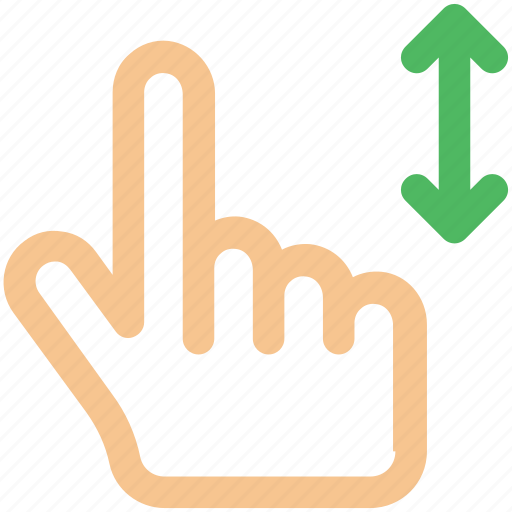 arrow, arrows, bottom, creative, down, drag, finger, fingers, four, four-fingers-drag, gesture, grid, hand, interaction, line, move, shape, swipe, top, touch, touch-gestures, up, work icon icon