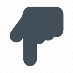 down, finger, gesture, hand, point icon icon icon