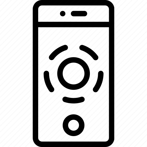 hold, phone, press, screen, smart, touch icon