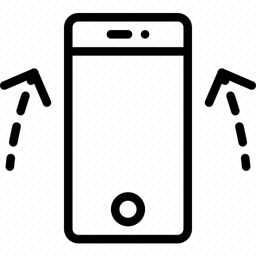 arrow, double, phone, screen, smart, touch, up icon