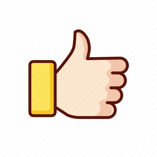 favourite, gesture, hand, like, thumb, up icon