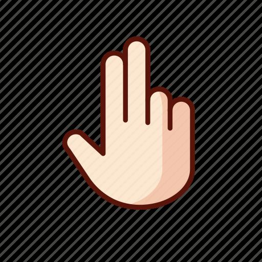 fingers, gesture, hand, swipe icon