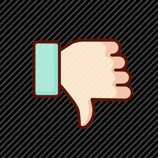 dislike, down, gesture, thumb, thumbs, unlike icon