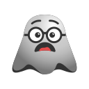 emoji, emoticon, face, ghost, happy, smiley, sunglasses icon