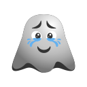emoji, emoticon, face, ghost, laughing, smiley icon