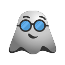 cool, emoji, emoticon, ghost, smiley, sunglasses icon