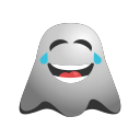 emoji, emoticon, face, ghost, laughing, smiley, tears icon