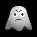 emoji, emoticon, ghost, sad, smiley, unhappy icon