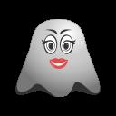 adorable, emoji, emoticon, ghost, in, love, makeup, smiley icon