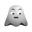 depressed, emoji, emoticon, frowning, ghost, smiley icon