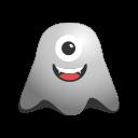 crazy, cyclops, emoji, emoticon, eye, face, ghost, laughing, one, smiley icon
