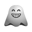 bear, emoji, emoticon, face, ghost, laughing, smiley icon