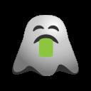 emoji, emoticon, ghost, nauseated, puke, smiley, throw, up, vomiting icon