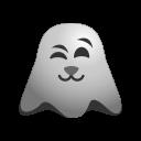 emoji, emoticon, ghost, kitten, smile, smiley icon