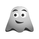 emoji, emoticon, ghost, happy, smiley icon