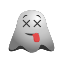 cheeky, emoji, emoticon, expressions, ghost, naughty, smiley icon