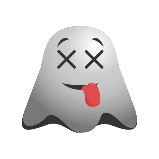 cheeky, emoji, emoticon, expressions, ghost, naughty, smiley icon