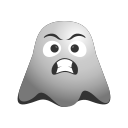 emoji, emoticon, ghost, grimacing, irritated, smiley icon