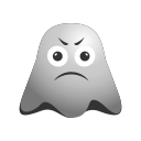 emoji, emoticon, ghost, sad, smiley, tired icon