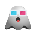 cool, emoji, emoticon, face, ghost, happy, smiley, sunglasses icon