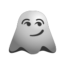 emoji, emoticon, ghost, smiley, surprised icon