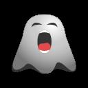 bored, emoji, emoticon, face, ghost, sleepy, smiley, tired icon