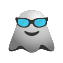 cool, emoji, emoticon, ghost, smiley icon
