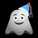 birthday, celebration, emoji, emoticon, ghost, happy, smiley icon