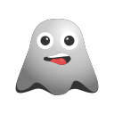 angry, annoyed, emoji, emoticon, ghost, sad, smiley icon