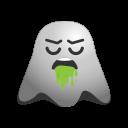 emoji, emoticon, face, ghost, nauseated, puke, smiley, throw, up, vomiting icon