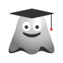 academiccap, degree, emoji, emoticon, ghost, graduation, smiley, student icon