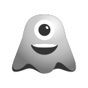 crazy, cyclops, emoji, emoticon, face, ghost, laughing, smiley icon