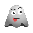 crazy, emoji, emoticon, face, ghost, naughty, smile, smiley icon