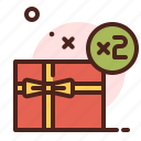 double, gift, birthday, party, christmas