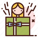 puppet, birthday, party, christmas icon
