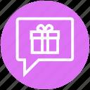 birthday gift, celebration, chat, christmas, gift, invitation, present