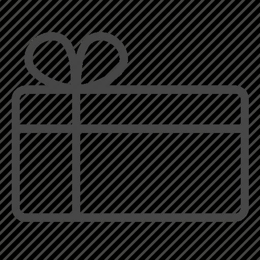 box, gift, gift card, greeting, present, reward, voucher icon
