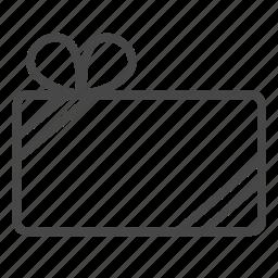 box, gift, gift card, present, reward, voucher icon