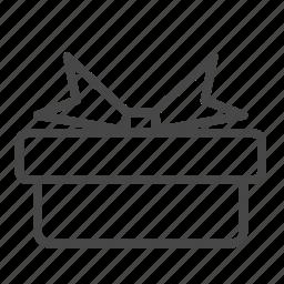 birthday, box, gift, giftbox, present, reward icon
