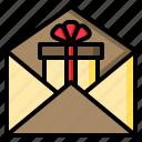mail, box, gift, bow, communication