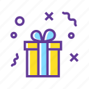 birthday gift, celebrate, christmas gift, gift, gift box, wrapped gift icon