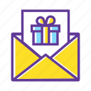coupon, envelope, gift, gift box, gift card, gift certificate, present icon
