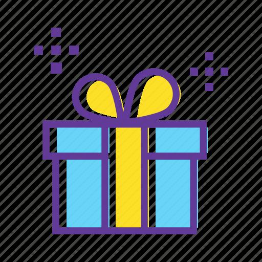 birthday gift, celebrate, christmas gift, gift, gift box, wrapped gift icon
