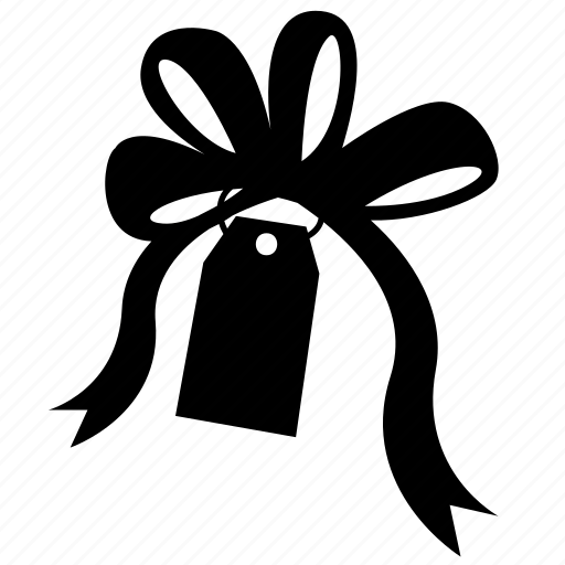 bow, gift, ribbin, ribbon, shop, shopping, tag icon