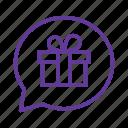 bonus, gift, gift box, present, promotion, promotion gift icon