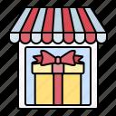 store, present, gift