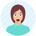 angry, avatar, cute, emotion, expression, girl, woman