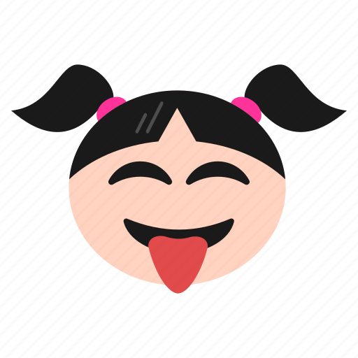 crazy, emoji, emoticon, face, girl, naughty, out, smiley, stuck, tongue, women icon